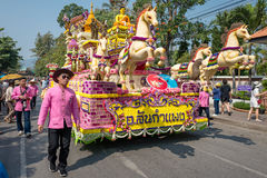 Chiang Mai Flower Festival Parade 2016 Royalty Free Stock Photos