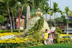 Chiang Mai Flower Festival Thailand Arkivbilder