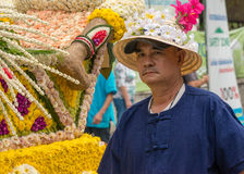 Chiang Mai Flower Festival. CHIANG MAI,THAILAND-FEB.2 : 37th Anniversary Chiang Mai Flower Festival, Unidentified man in parade annual Chiang Mai flower festival Stock Images