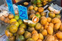 Chiang Mai Gate Night Food Market. Fresh oranges and apricots for sale, Chiang Mai Gate Night Food Market Stock Photo