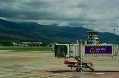 Chiang Mai International Airport i Thailand Royaltyfria Foton