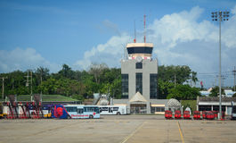 Chiang Mai International Airport i Thailand Royaltyfri Bild