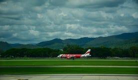 Chiang Mai International Airport i Thailand Royaltyfria Bilder