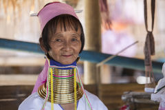 CHIANG MAI Karen Long Neck woman posing for a portrait Stock Images