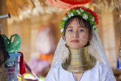 CHIANG MAI Karen Long Neck woman posing for a portrait Royalty Free Stock Image