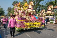 Chiang Mai kwiatu festiwalu parada 2016 zdjęcia royalty free