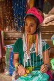 Chiang Mai, langhalsiges Stammdorf Thailands Lizenzfreie Stockbilder