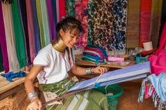 Chiang Mai, langhalsiges Stammdorf Thailands Stockbilder