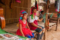Chiang Mai, langhalsiges Stammdorf Thailands Lizenzfreie Stockfotos