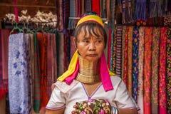 Chiang Mai, langhalsiges Stammdorf Thailands Lizenzfreies Stockfoto
