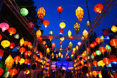 Chiang mai lanterns festival. Lantern is one of the most popular souvenir in northern Thailand Stock Image