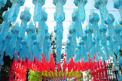 Chiang mai lanterns festival. / lantern is one of the most popular souvenir in northern Thailand Stock Image