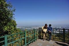 Chiang mai. Look down at chiang mai city Stock Images