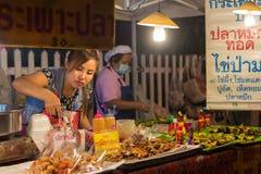 Chiang Mai marknadsnatt thailand Royaltyfri Foto