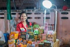Chiang Mai marknadsnatt thailand Royaltyfria Bilder