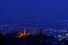 Chiang mai night light landscape Stock Image