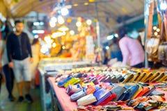 Chiang Mai night market. Thailand. Wallets and souvenirs for sell at night market. Chiang Mai, Thailand royalty free stock photo