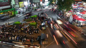 Chiang Mai Night Market Time lapse stock video footage