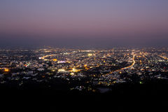 chiang mai night view on view point of doi suthep, Thailand Royalty Free Stock Image