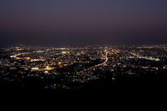 chiang mai night view on view point of doi suthep , thailand Royalty Free Stock Photos