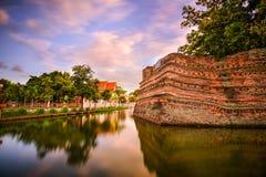 Chiang Mai Old City Wall Fotografia Stock