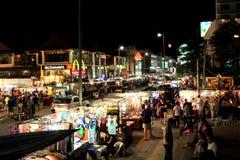 Chiang Mai på natten Arkivbilder