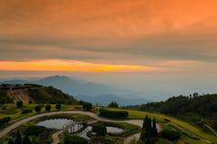 Chiang Mai Province, Doi inthanon National Park. Doi inthanon National Park, Vantage point to view both sunrise and sunset Stock Photography