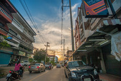 Chiang Mai road in the evening Stock Photo