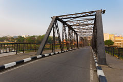 Chiang Mai's old steel bridge Royalty Free Stock Photo