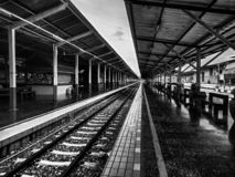 Nature railroad train. Chiang mai`s train station is a place with a long history. and has maintained the ancient. Sometime there are tourists who use the service royalty free stock image