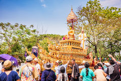 Chiang mai Songkran festival. CHIANG MAI THAILAND-APRIL 13:Chiang mai Songkran festival.The tradition of bathing the Buddha Phra Singh marched on an annual Stock Photos