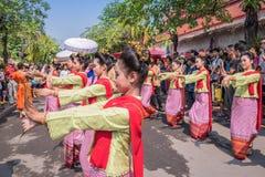 Chiang mai Songkran festiwal fotografia royalty free