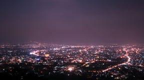 Chiang Mai-stadsmening bij nigh Stock Foto