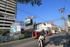 Chiang Mai-straatmening in Thailand Stock Foto's