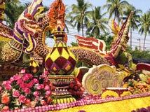 Chiang Mai, Tailândia - 7 de fevereiro de 2015: Festival da flor imagens de stock royalty free
