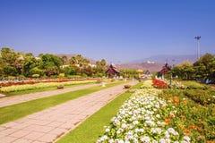 CHIANG MAI, TAILÂNDIA - 16 DE MARÇO: Parque real Rajapruek o 16 de março de 2017 em Chiang Mai, Tailândia Fotos de Stock