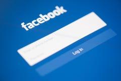 CHIANG MAI, TAILÂNDIA - 28 DE SETEMBRO DE 2014: Aplicação de Facebook Imagem de Stock Royalty Free