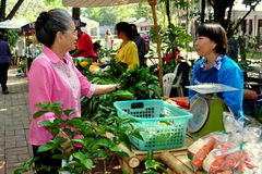 Chiang Mai, Tailândia: Mercado de JJ domingo Imagens de Stock