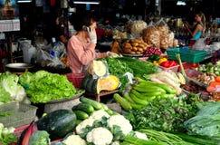 Chiang Mai, Tailândia: Mercado do alimento de Somphet Fotos de Stock Royalty Free