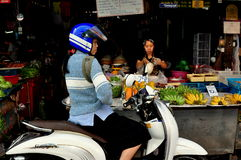 Chiang Mai, Tailândia: Mercado do alimento de Somphet Fotografia de Stock