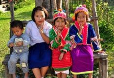 Chiang Mai, Tailândia: Quatro crianças tailandesas Imagem de Stock Royalty Free