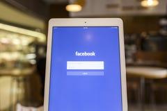 CHIANG MAI, TAILÂNDIA - 17 DE SETEMBRO DE 2014: Aplicação de Facebook Foto de Stock