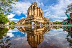 Chiang Mai, Tail?ndia em Wat Chedi Laung fotos de stock royalty free