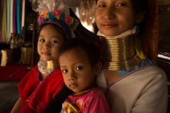 CHIANG MAI, TAILAND - APRIL 22, 2016: A portrait of a family fro Royalty Free Stock Image