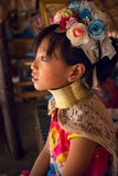 CHIANG MAI, TAILAND - APRIL 22, 2016: A portrait of a girl Kayan Stock Images
