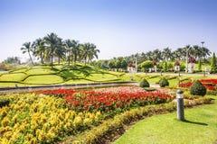 CHIANG MAI, TAILANDIA - 16 DE MARZO: Parque real Rajapruek el 16 de marzo de 2017 en Chiang Mai, Tailandia Imágenes de archivo libres de regalías