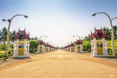 CHIANG MAI, TAILANDIA - 16 DE MARZO: Parque real Rajapruek el 16 de marzo de 2017 en Chiang Mai, Tailandia Imagenes de archivo