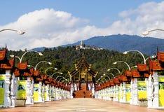 Chiang Mai, Tailandia ENERO, 7, 2018: Ho Kham Luang en Flor real imágenes de archivo libres de regalías