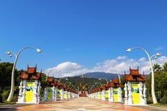 Chiang Mai, Tailandia ENERO, 7, 2018: Ho Kham Luang en Flor real foto de archivo