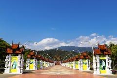 Chiang Mai, Tailandia ENERO, 7, 2018: Ho Kham Luang en Flor real fotos de archivo